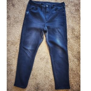 AE Black Distressed Skinny Jean